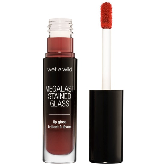 Wet n Wild | Mega Last Stained Glass Lip Gloss- Handle With Care - Product front facing with cap off on a white background