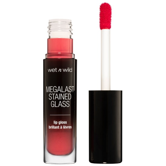 Wet n Wild   Mega Last Stained Glass Lip Gloss- Magic Mirror - Product front facing with cap off on a white background
