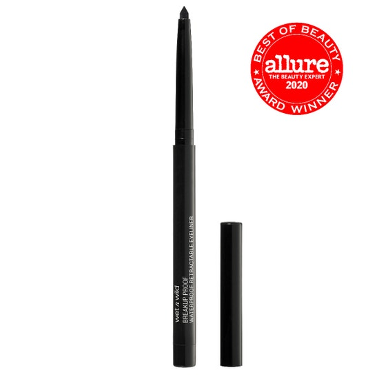 Wet n Wild | Mega Last Breakup-Proof Retractable Eyeliner- Black - Product front facing with cap off on a white background