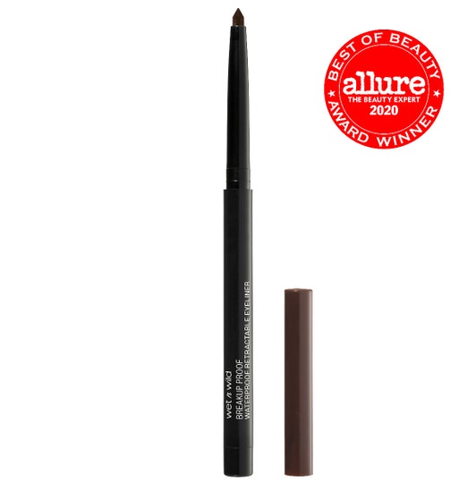 Wet n Wild | Mega Last Breakup-Proof Retractable Eyeliner- Dark Brown - Product front facing with cap off on a white background