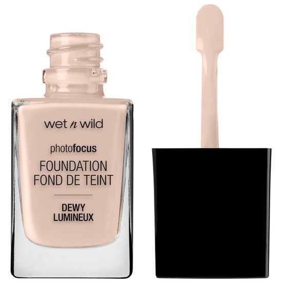 Wet n Wild | Photo Focus Dewy Foundation- Rose Ivory - Product front facing with cap off on a white background