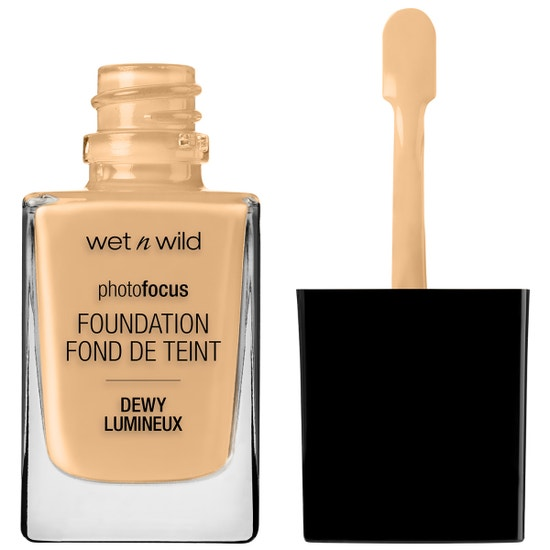 Wet n Wild | Photo Focus Dewy Foundation- Buff Bisque - Product front facing with cap off on a white background