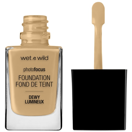 Wet n Wild | Photo Focus Dewy Foundation- Cream Beige - Product front facing with cap off on a white background