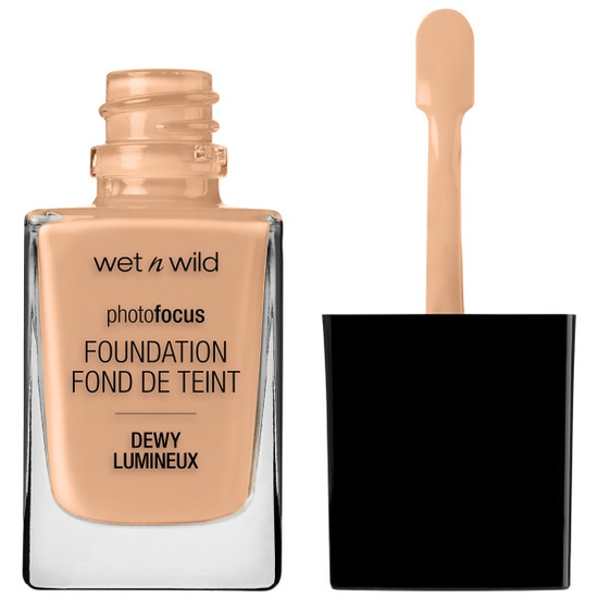 Wet n Wild | Photo Focus Dewy Foundation- Classic Beige - Product front facing with cap off on a white background