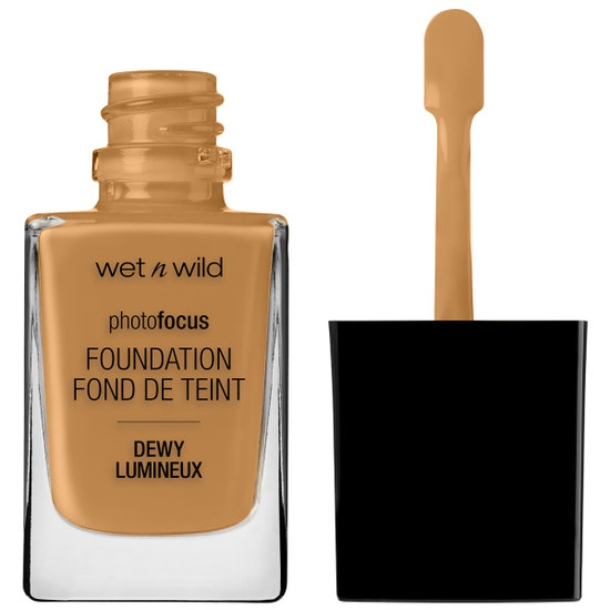 Wet n Wild | Photo Focus Dewy Foundation- Hazelnut - Product front facing with cap off on a white background