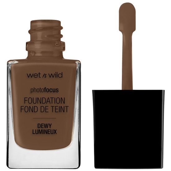 Wet n Wild | Photo Focus Dewy Foundation- Deep Honey - Product front facing with cap off on a white background