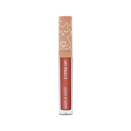 wet n wild | Coffee Cat Lip Gloss- Deja Brew | Lip gloss front facing on a white background
