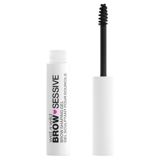 wet n wild | Brow-Sessive Brow Shaping Gel- Brown| Product front facing open on a white background