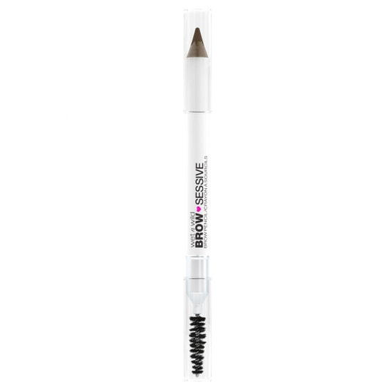 wet n wild   Brow-Sessive Brow Pencil- Medium Brown   Product front facing on a white background