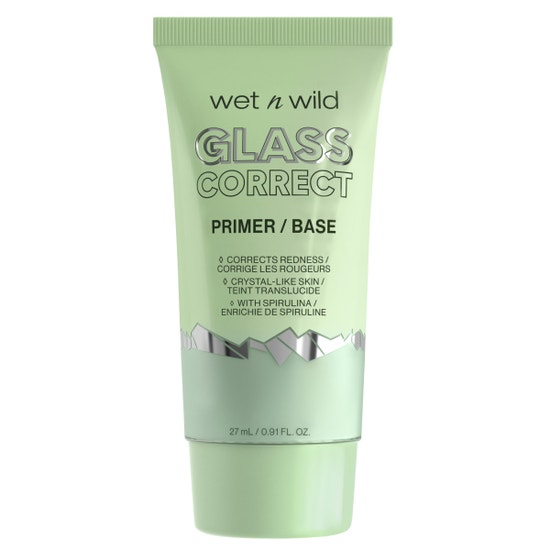 wet n wild | Prime Focus Glass Correct Primer- Green | Product front facing on a white background