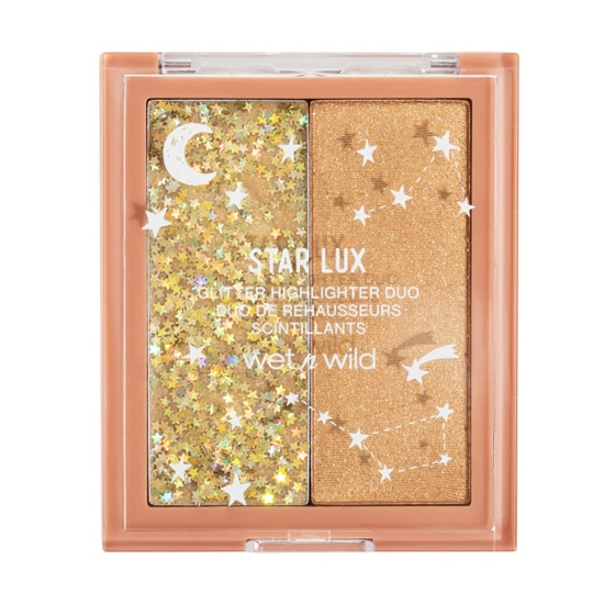wet n wild   Star Lux Glitter Highlighter Duo- Star Crazy   Product front facing on a white background