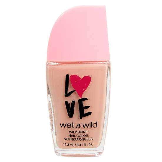 wet n wild | Valentines Wild Shine Nail Color- Tickled Pink| Product front facing on a white background