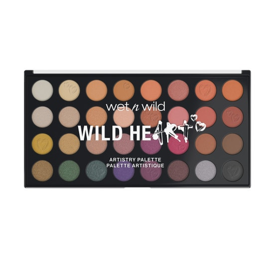 Wild Heart Artistry Palette   Wet n wild   Product front facing lid open with no background