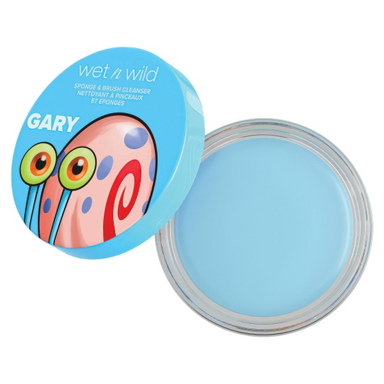 Gary the Snail Soap Suds Sponge & Brush Cleanser | wet n wild | Product front facing lid removed, with no background