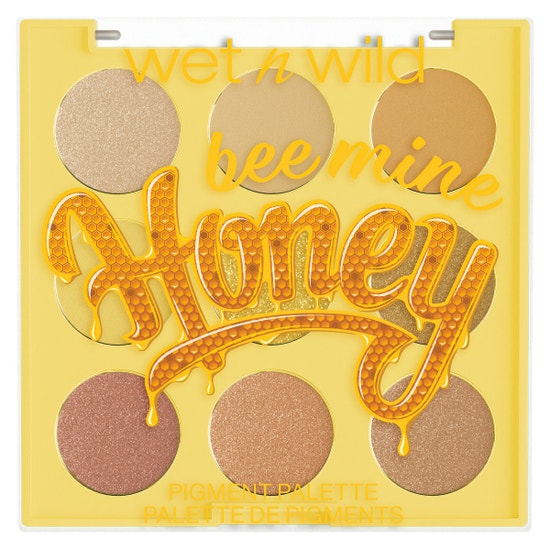 Honey Bee Mine 9 Pan Shadow Palette | Wet n wild | Product front facing lid closed, with no background