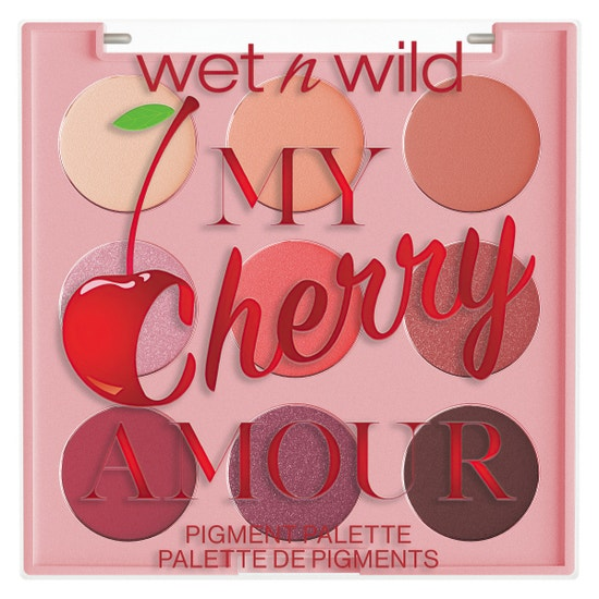 My Cherry Amour 9 Pan Shadow Palette | Wet n wild | Product front facing lid closed, with no background