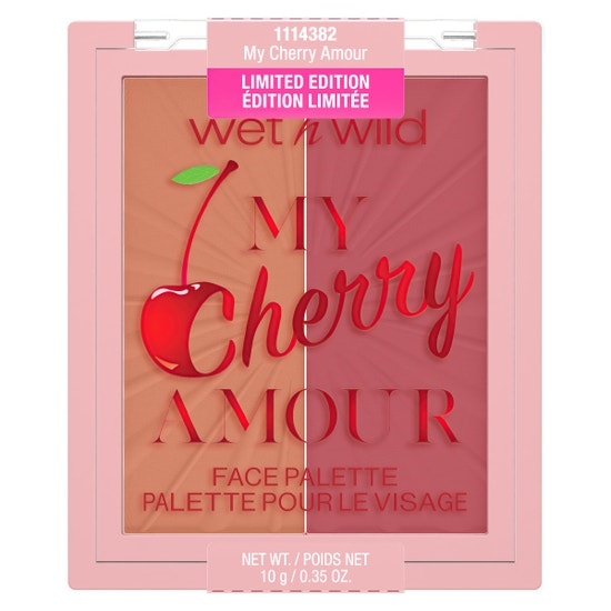 My Cherry Amour Blushlighter Duo | Wet n wild | Product front facing lid closed, with no background