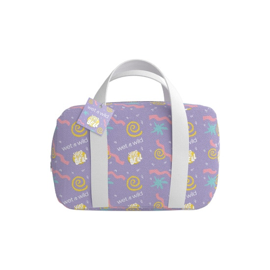 Saved by the Bell Makeup Bag   Wet n wild   Product front facing zipper closed, with no background