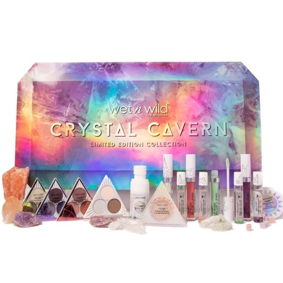 Wet n Wild | Crystal Cavern Full Collection Box - Products front facing in front of box on a white background