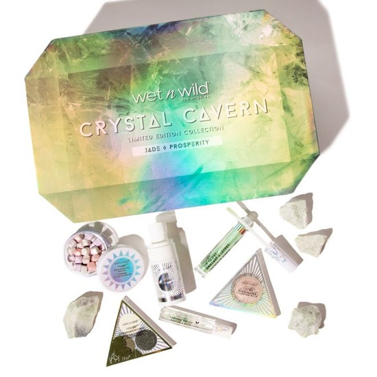 Wet n Wild | Crystal Cavern Jade Box - Products laid out on white background