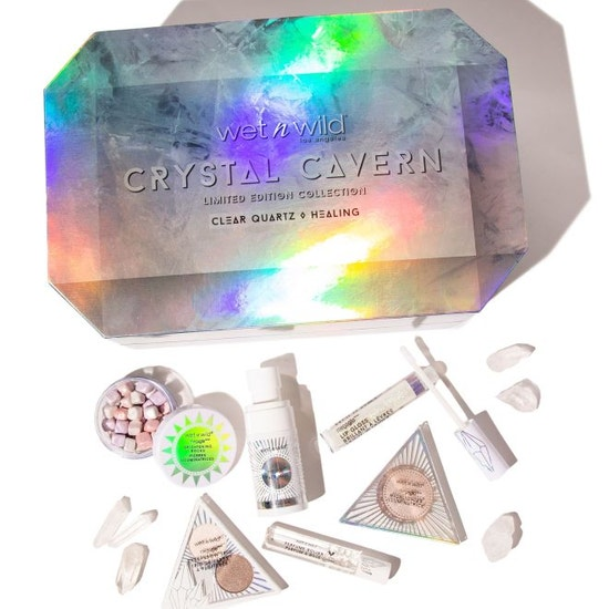 Wet n Wild | Crystal Cavern Clear Quartz Box - Products laid out on white background