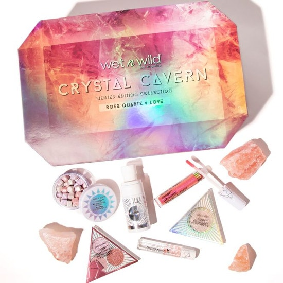 Wet n Wild | Crystal Cavern Rose Quartz Box - Products laid out on white background