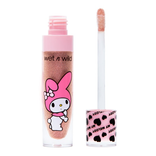 wet n wild | My Melody + Kuromi Lip Gloss-Oh My!-Product front facing open showing applicator on a white background