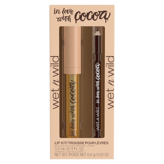 In Love With Cocoa Lip Kit | Wet n wild | Product front facing in packaging, with no background