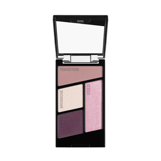 Wet n Wild | Color Icon Eyeshadow Quad-Petalette - Product front facing with cap off on a white background