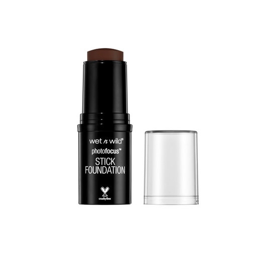 Wet n Wild | Photo Focus Stick Foundation-Ebony - Product front facing with cap off on a white background
