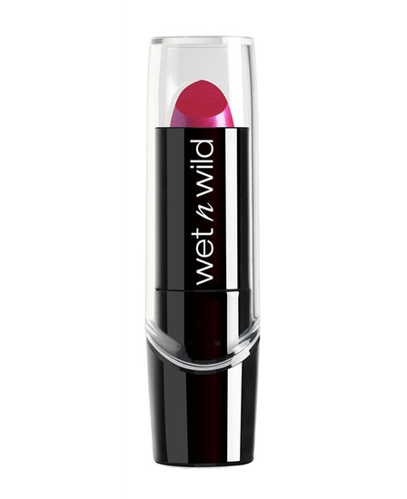 Wet n Wild | Silk Finish Lipstick-Fuchsia w Blue Pearl - Product front facing on a white background