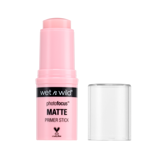 Wet n Wild | Photo Focus Matte Primer Stick - You're What Matte-rs - Product front facing with cap off on a white background