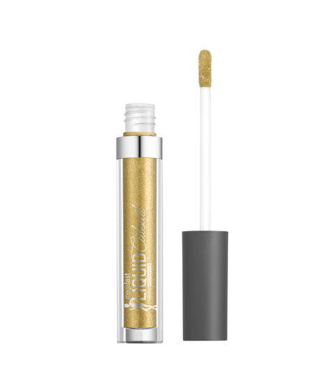Wet n Wild   Megalast Liquid Catsuit Liquid Eyeshadow-Goldie Luxe - Product front facing with cap off on a white background