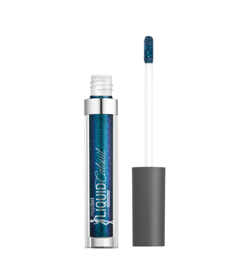 Wet n Wild   Megalast Liquid Catsuit Liquid Eyeshadow-Cosmic Teal - Product front facing with cap off on a white background