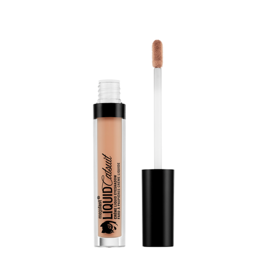 Wet n Wild | MegaLast Liquid Catsuit Creme Eyeshadow- Camel Back - Product front facing with cap off on a white background