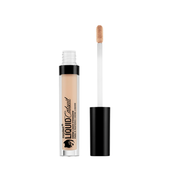 Wet n Wild | MegaLast Liquid Catsuit Creme Eyeshadow- Sand Castles - Product front facing with cap off on a white background