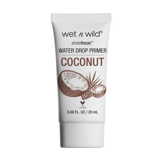 Wet n Wild | Photo Focus Water Drop Primer- Coconut - Product front facing on a white background
