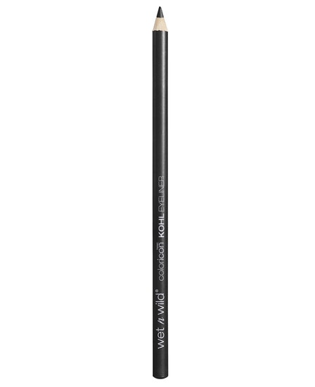 Wet n Wild | Color Icon Kohl Liner Pencil-Baby's Got Black - Product front facing with cap off on a white background