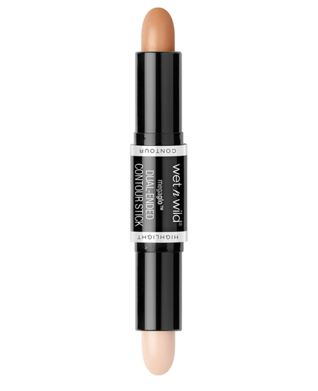 Wet n Wild | MegaGlo Dual-Ended Contour Stick - Medium/Tan - Product front facing with cap off on a white background