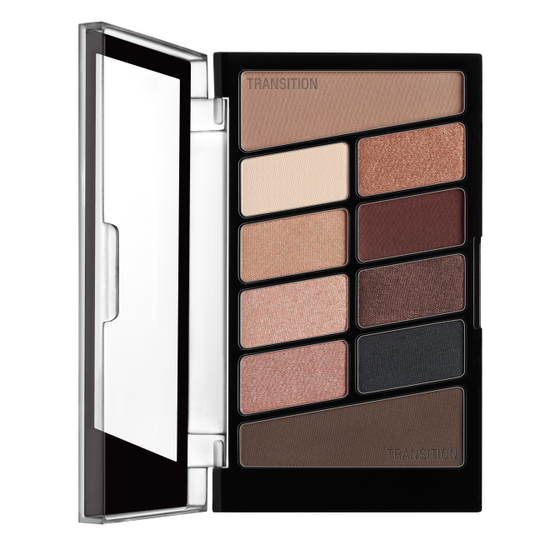 Wet n Wild | Color Icon Eyeshadow 10 Pan Palette-Nude Awakening - Product front facing with cap off on a white background