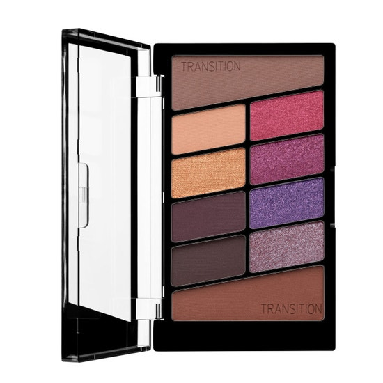 Wet n Wild | Color Icon 10 Pan Eye shadow Palette- V.I.Purple - Product front facing open on a white background