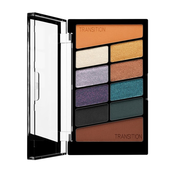 Wet n Wild | Color Icon 10 Pan Eyeshadow Palette- Cosmic Collsion - Product front facing open on a white background
