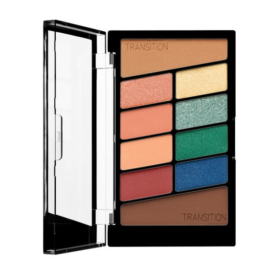 Wet n Wild | Color Icon 10 Pan Eyeshadow Palette- Stop Playing Safe - Product front facing open on a white background