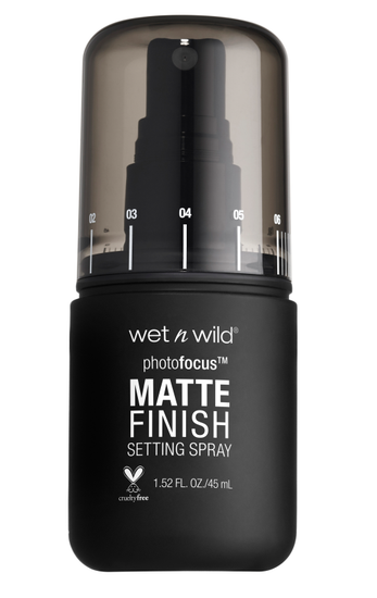 Wet n Wild | Photo Focus Matte Setting Spray - Matte Appeal - Product front facing on a white background