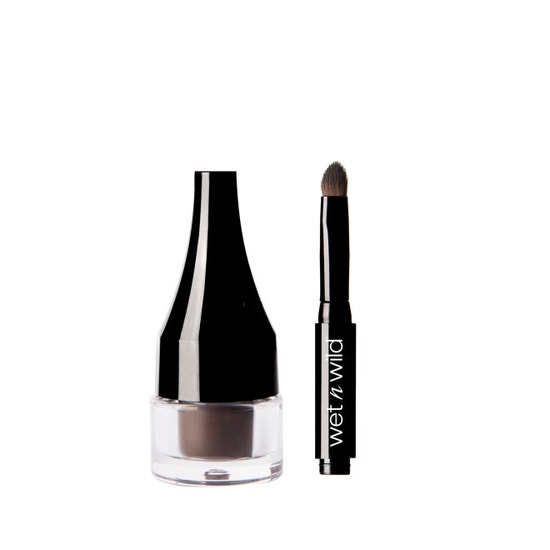 Wet n Wild | Ultimate Brow Pomade-Medium Brown - Product front facing with cap off on a white background