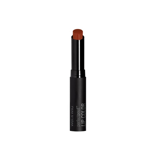 Wet n Wild | Perfect Pout Lip Color- Extra Cinnamon, Please - Product front facing with cap off on a white background