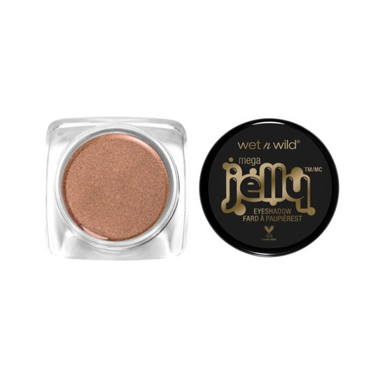 Wet n Wild | Mega Jelly Eyeshadow Pot- Champagne Diet - Product front facing with cap off on a white background