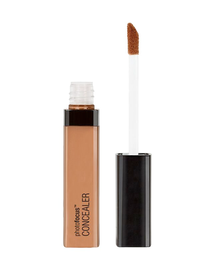 Wet n Wild | Photo Focus Concealer Dark Cocoa - Product front facing with cap off on a white background