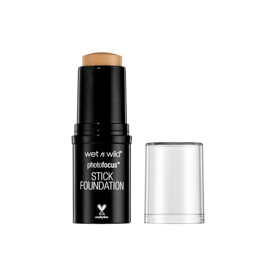 Wet n Wild | Photo Focus Stick Foundation-Sand Beige - Product front facing with cap off on a white background