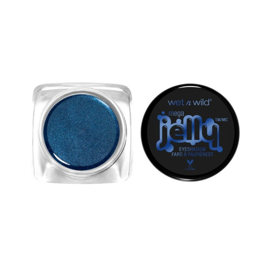 Wet n Wild | Mega Jelly Eyeshadow Pot- Something Blue - Product front facing with cap off on a white background